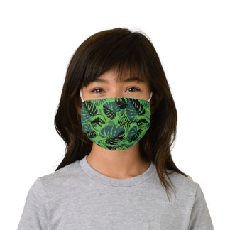 Jurassic World | Green & Black Jungle Pattern Kids' Cloth Face Mask