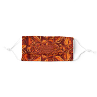 Kaleidoscope Orange Digital Art Paper Adult Cloth Face Mask