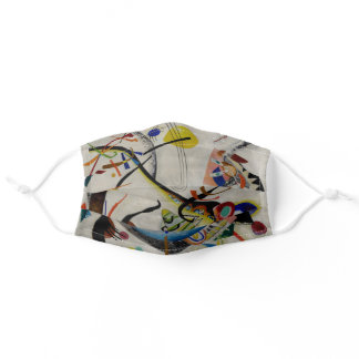 Kandinsky Blue Segment Abstract Art Adult Cloth Face Mask