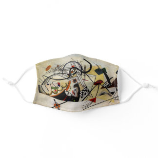 Kandinsky Transverse Unbroken Line Abstract Adult Cloth Face Mask