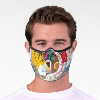 Kandinsky's Dominant Curve Abstract Art Painting Premium Face Mask