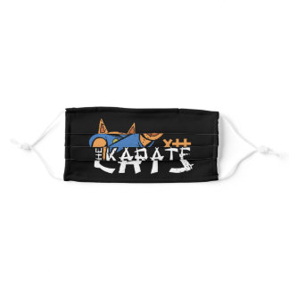 Karate Cat Adult Cloth Face Mask