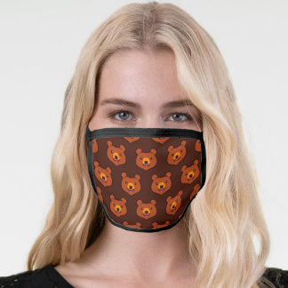Kawaii Brown Bear Face Mask