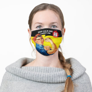 Keep calm and carry on adult cloth face mask