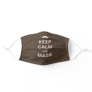 Keep calm and customize your own brown adult cloth face mask