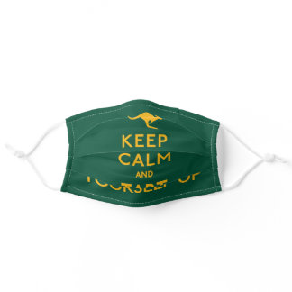 Keep Calm and Tart Yourself Up Australian Adult Cloth Face Mask