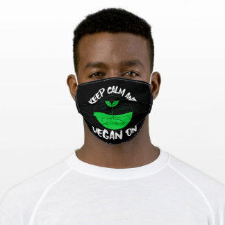 Keep Calm And Vegan On Adult Cloth Face Mask