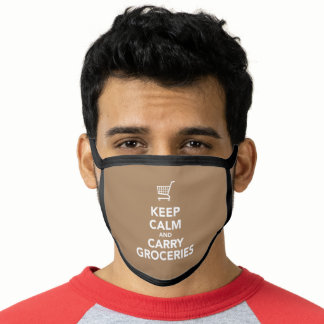 Keep Calm & Carry Groceries Classic Face Mask