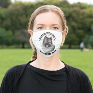 Keeshond Mom Adult Cloth Face Mask