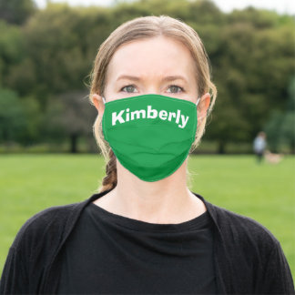 Kelly Green Personalized Name Cloth Face Mask