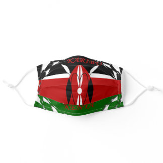 Kenya Flag Tuko Pamoja Adult Cloth Face Mask