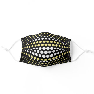 Khaki and White Polka Dot Modern Pattern Adult Cloth Face Mask