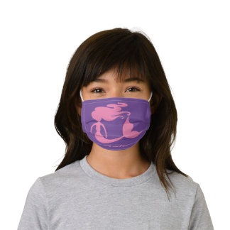 Kid's pink mermaid Face Mask with Filter Slot
