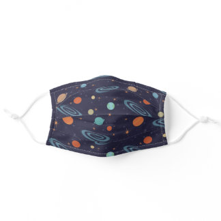 Kids Planets Solar System Galaxy Reusable Washable Adult Cloth Face Mask