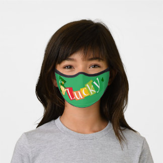 kid's St Patrick Day Lucky face mask
