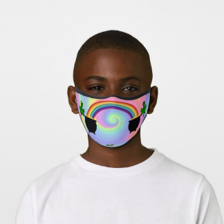 kids St. Patrick's Day face mask