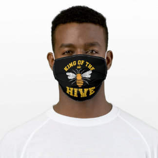 King of the HIVE Beekeepers Bee love whisperer Adult Cloth Face Mask