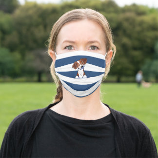 KiniArt Brittany Dog Adult Cloth Face Mask