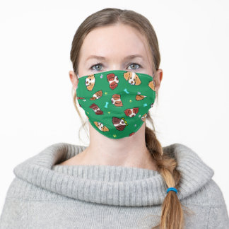 KiniArt Brittanys On Green Adult Cloth Face Mask