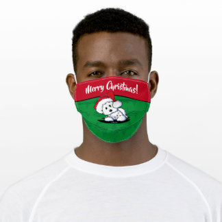 KiniArt Westie Christmas Adult Cloth Face Mask