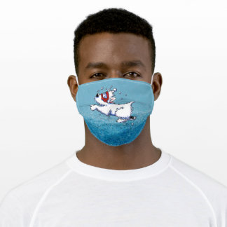 KiniArt Westie Diving Cloth Face Mask