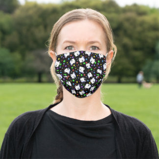 KiniArt Westie Dots Adult Cloth Face Mask