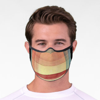 Klee - Architecture of the Plain, abstract art Premium Face Mask