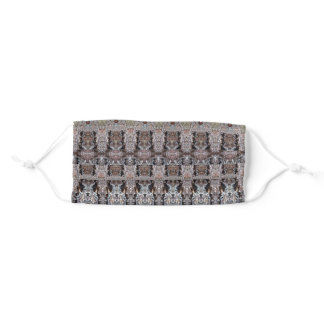 Knotty Cement Ikat Adult Cloth Face Mask