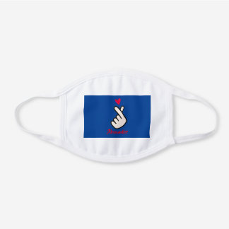 Korea Kpop Covid-19  Red Blue White Cotton Face Mask