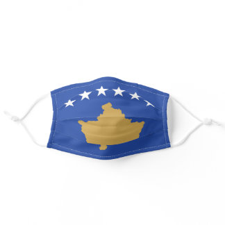 Kosovo Flag Cloth Face Mask