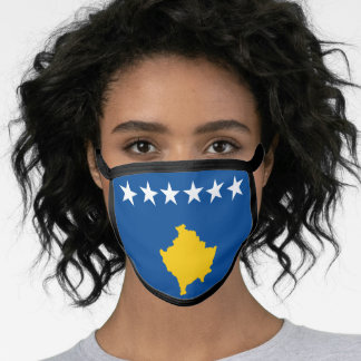Kosovo & Kosovan Flag Mask - fashion/sports fans