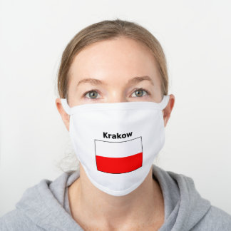 Krakow Polish Flag Face Mask