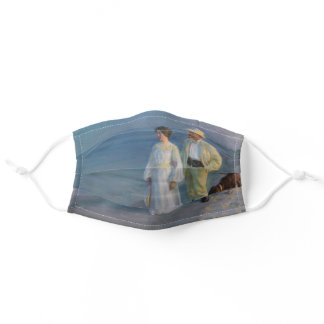 Kroyer - The Artist and his Wife on the Beach Adult Cloth Face Mask