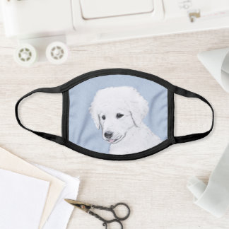 Kuvasz Painting - Cute Original Dog Art Face Mask
