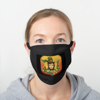 La Sicilia Black Cotton Face Mask