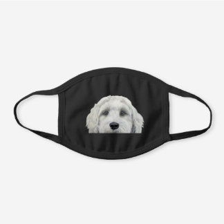 Labradoodle white Cotton Face mask by miart