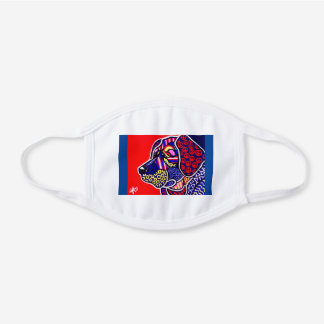 Labrador Retriever Chesapeake Bay Weimaraner Dog White Cotton Face Mask
