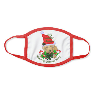 Labrador Retriever Christmas Face Mask