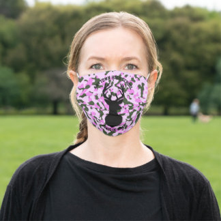 Ladies Pink Camo Buck Class Of 2020 Graduation Adult Cloth Face Mask