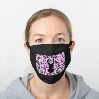 Ladies Pink Camo Buck Class Of 2020 Graduation Black Cotton Face Mask