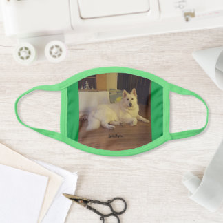 Lady Aspen White German Shepherd Face Mask