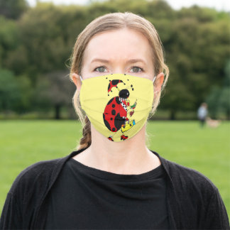 Ladybug going to work adult cloth face mask
