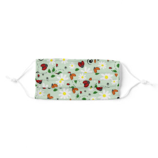 Ladybugs and Daisies Adult Cloth Face Mask