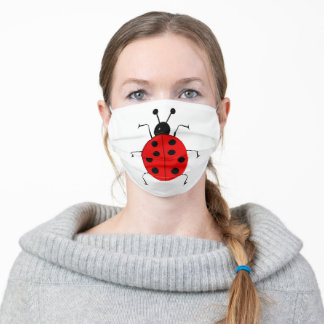 Ladybugs , Good Luck Adult Cloth Face Mask