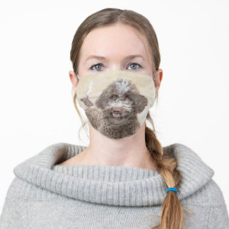 Lagotto Romagnolo Painting - Cute Original Dog Art Adult Cloth Face Mask