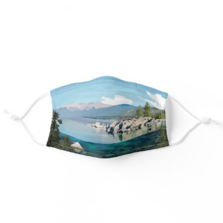 Lake Tahoe A sprinkle California & Nevada Adult Cloth Face Mask