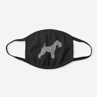 Lakeland Terrier Dog Breed Silhouette Black Cotton Face Mask