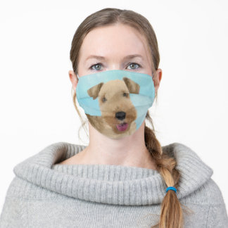 Lakeland Terrier Painting - Cute Original Dog Art Adult Cloth Face Mask