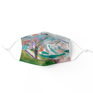 Landscape Painting Edward Munch Expressionist Art Adult Cloth Face Mask