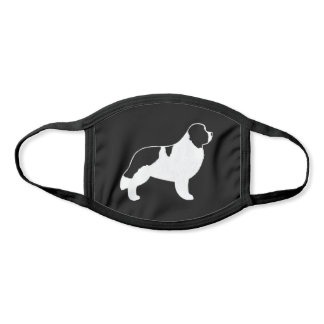 Landseer Newfoundland Dog Breed Silhouette Face Mask